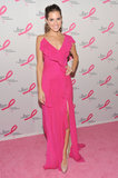 Once again, Allison showed off her love of hot pink donning a ruffled Donna Karan number at the 2012 Breast Cancer Research Foundation party in NYC.