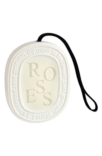 Give the lasting scent of roses with this scented oval ($45) by diptyque.