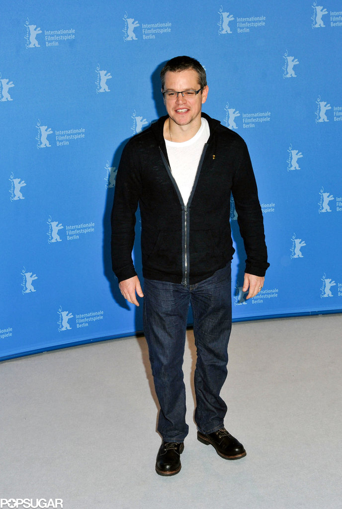 Matt Damon attended a photocall at the Berlin Film Festival.