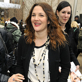 Drew Barrymore at New York Fashion Week Feb. 2013 | Pictures