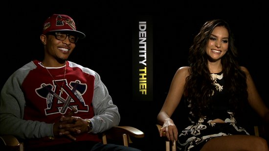 T.I. and Genesis Rodriguez Talk Playing Not-so-Nice in Identity Thief