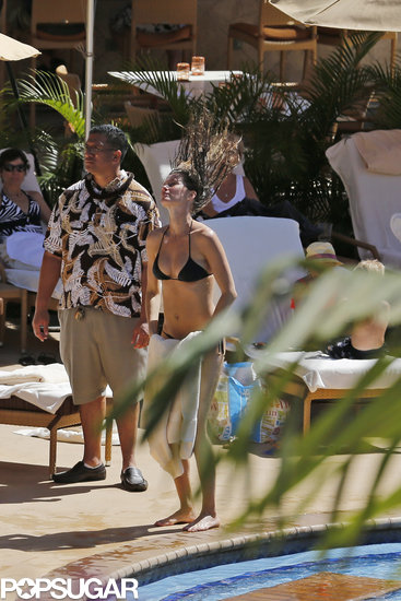 Gisele Bündchen hopped out of the pool in Hawaii.