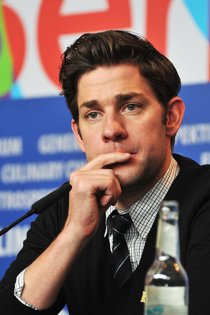 John Krasinski listened to a question at the Berlin Film Festival.