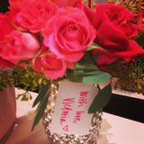 Victoria's Secret got us into a Valentine's Day state of mind with a bouquet of roses.