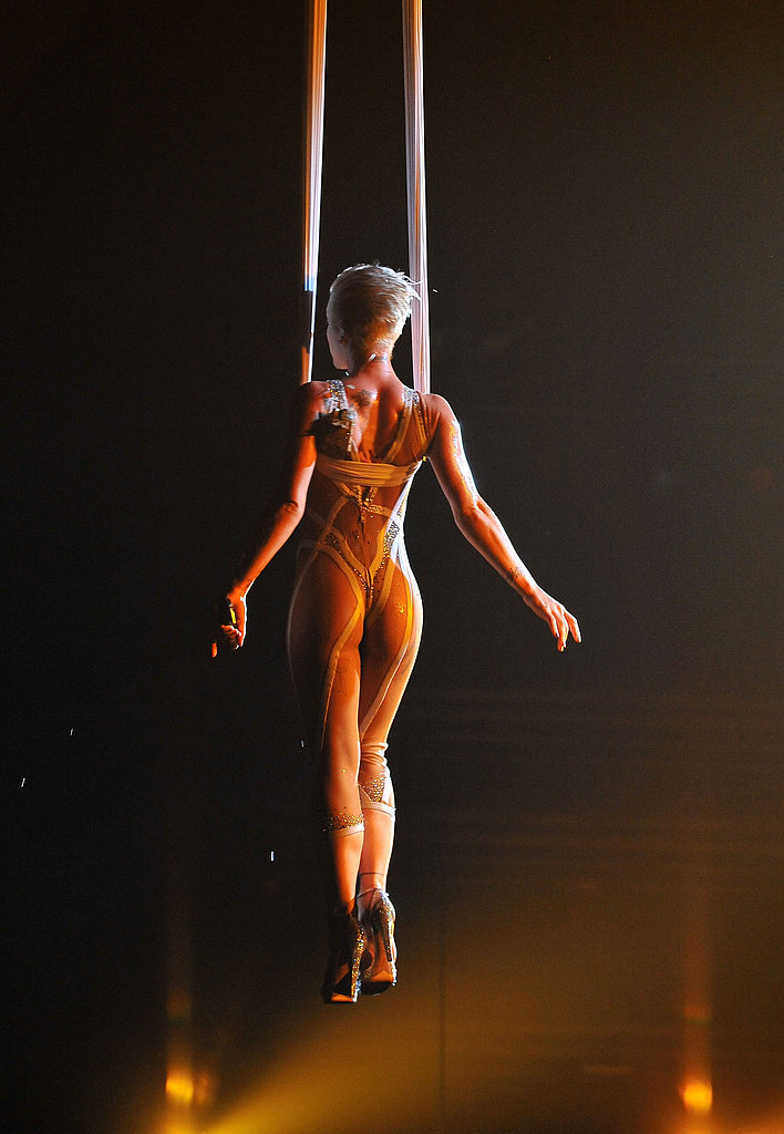"I think this 2010 Pink performance is what CBS had in mind when it said, ""Thong-type costumes are problematic."""