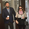 Ben Affleck, Jennifer Garner and Seraphina at Breakfast