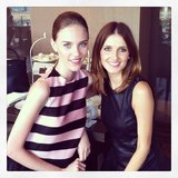 Ladies who lunch! Kate Waterhouse hung out with Aussie model Nicole Pollard. Source: Instagram user katewaterhouse7
