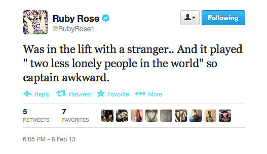 It might've been awkward for Ruby, but this is hilarious for us!