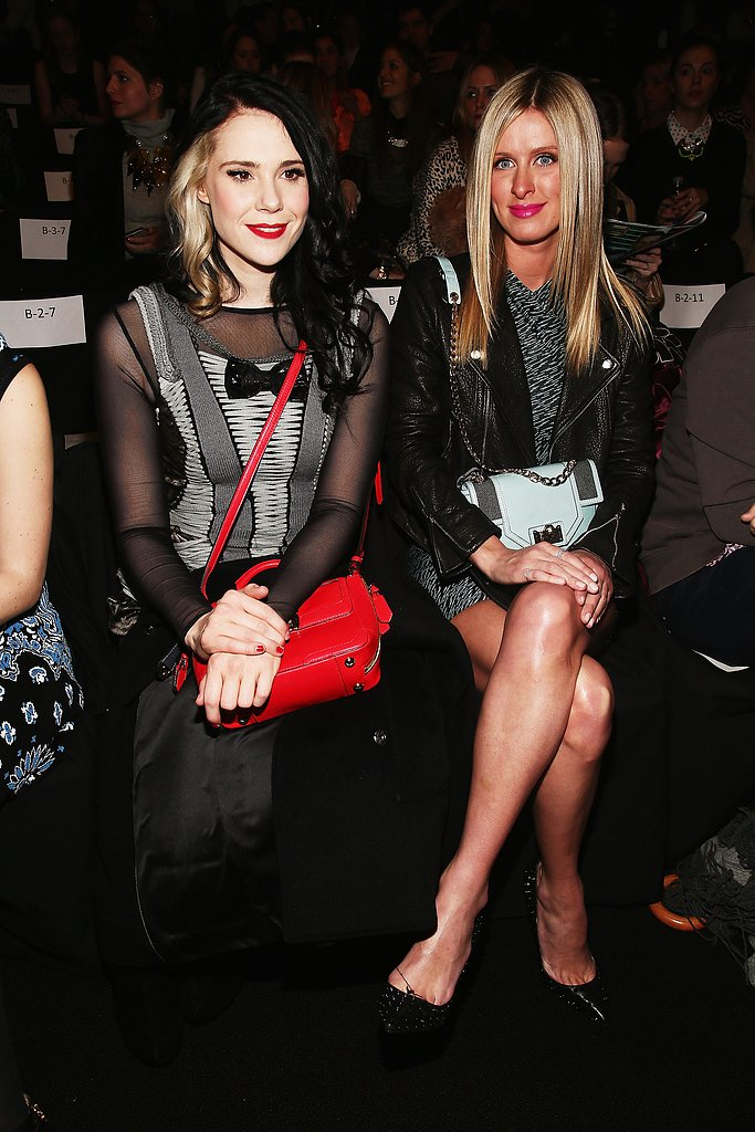 Kate Nash and Nicky Hilton sat tight at Rebecca Minkoff yesterday.