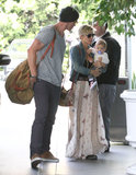 Chris Hemsworth and Elsa Pataky took daughter India out in Santa Monica.