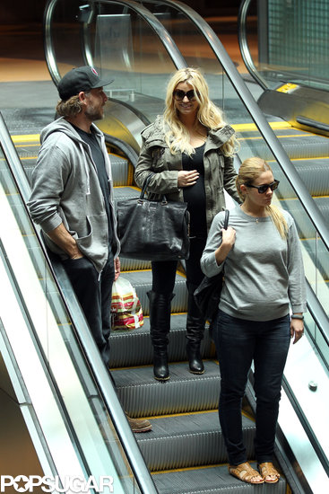 Pregnant Pals Jessica Simpson and CaCee Cobb Join Eric Johnson For Lunch