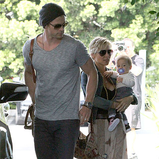 Chris Hemsworth With Wife Elsa Pataky and India in LA