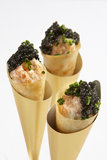 "Smoked Salmon ""Pizza"" Cones"