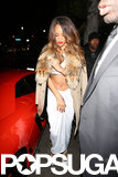 Rihanna arrived at an afterparty alongside Chris Brown.