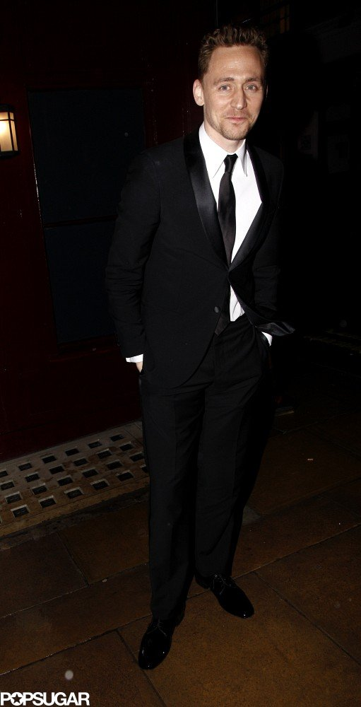 Tom Hiddleston arrived at a BAFTA Awards afterparty.
