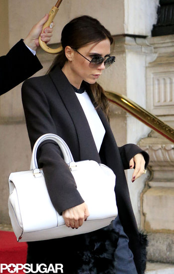 Victoria Beckham sported a pair of shades.