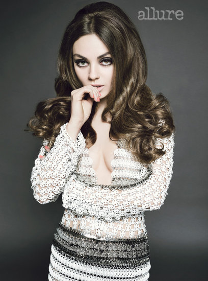 Mila Kunis donned a sequined Paco Rabanne dress.