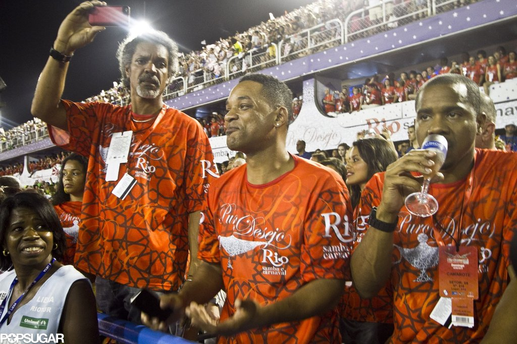 Will Smith attended the Samba Schools parade with friends in February 2013 as part of the Rio Carnival in Brazil.