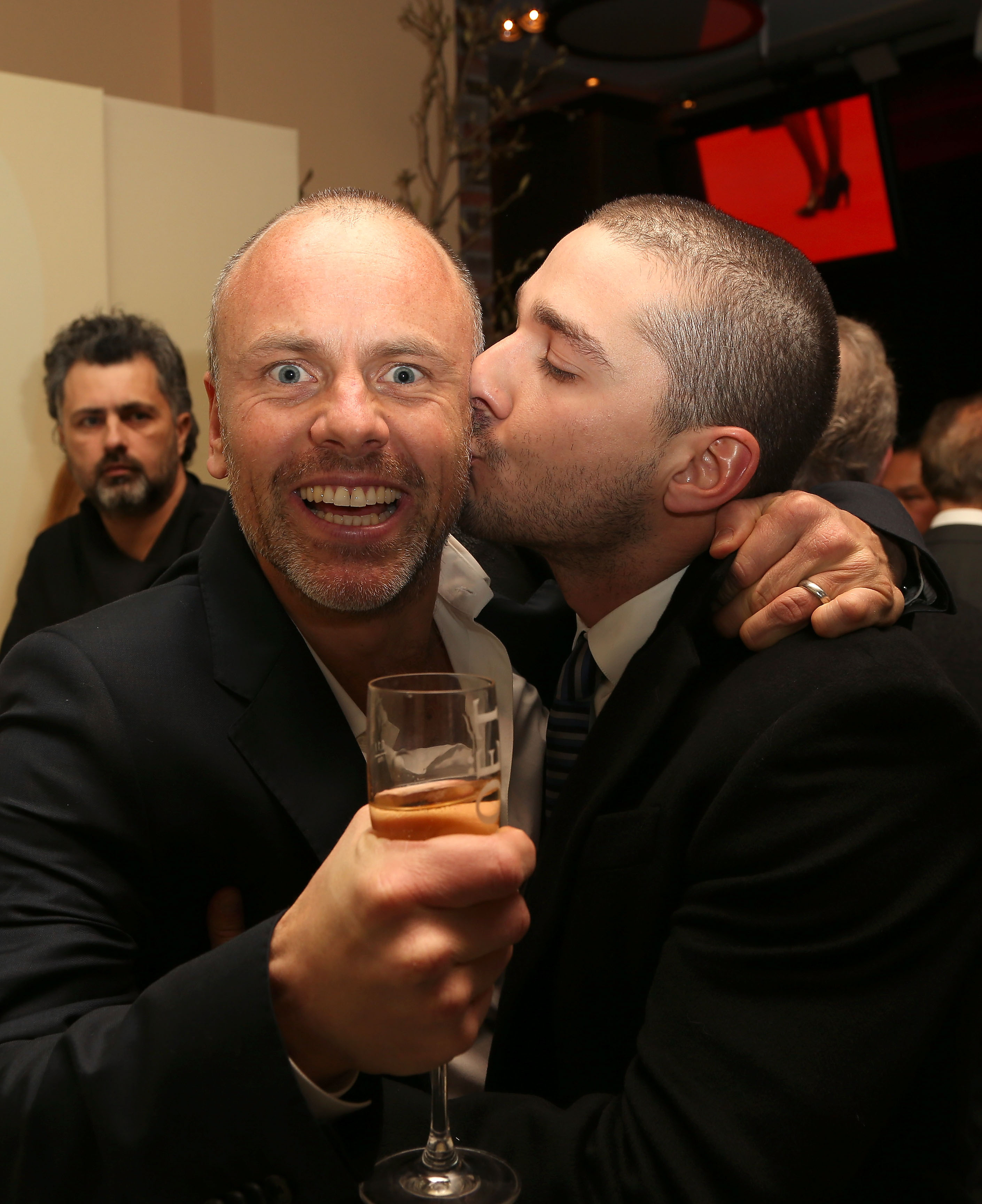 Shia LaBeouf and Fredrik Bond celebrated their The Necessary Death of Charlie Countryman premiere in Berlin on Saturday.