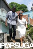 Kim Kardashian wore a white dress to sightsee with Kanye West in Brazil.
