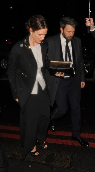 Jennifer Garner and Ben Affleck arrived at a BAFTA Awards after party.