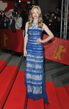 Amanda Seyfried wore a blue gown to the premiere of Lovelace at the Berlin Film Festival on Saturday.