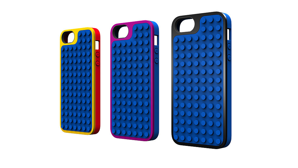 Belkin's Lego case for iPhone, available this Spring, is shown here in three colors.
