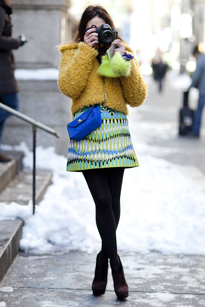 Sometimes, the only way to get through truly soul-crushing weather is to brighten things up with your outfit.