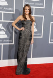 Allison's strapless KaufmanFranco column gown exuded sophistication with a dash of sex appeal at the 2013 Grammy Awards.