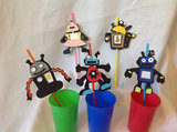 A pack of silly robot straws ($18) would be a great addition to a birthday celebration.