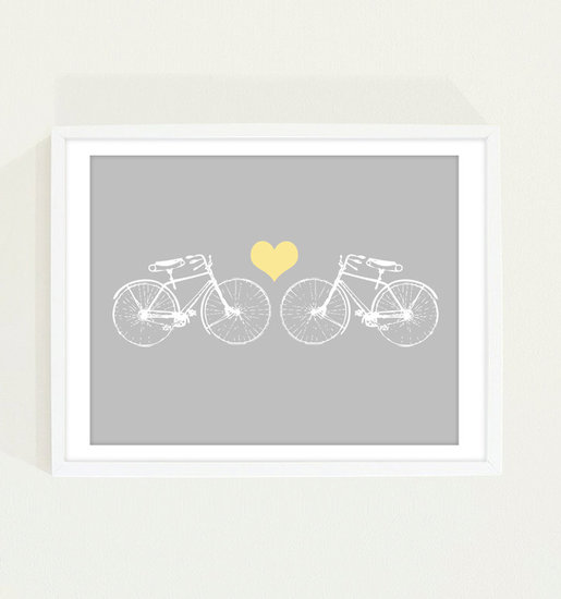 If your child loves to bike, try this simple, modern bicycle print download ($8).