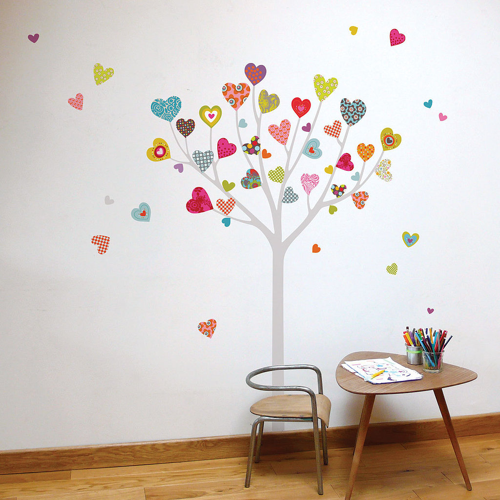 Deck out your child's wall with this whimsical heart tree decal ($33).