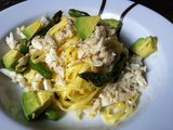 Linguine With Lump Crab Meat and Asparagus