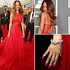 Pictures of Rihanna in Azzedine Alaia at the 2013 Grammys