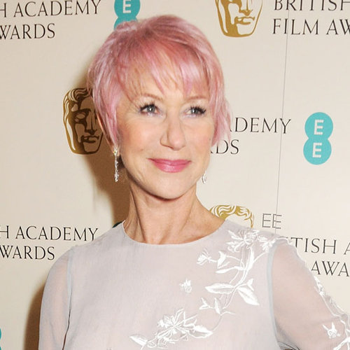 Helen Mirren Pink Hair at the BAFTAs