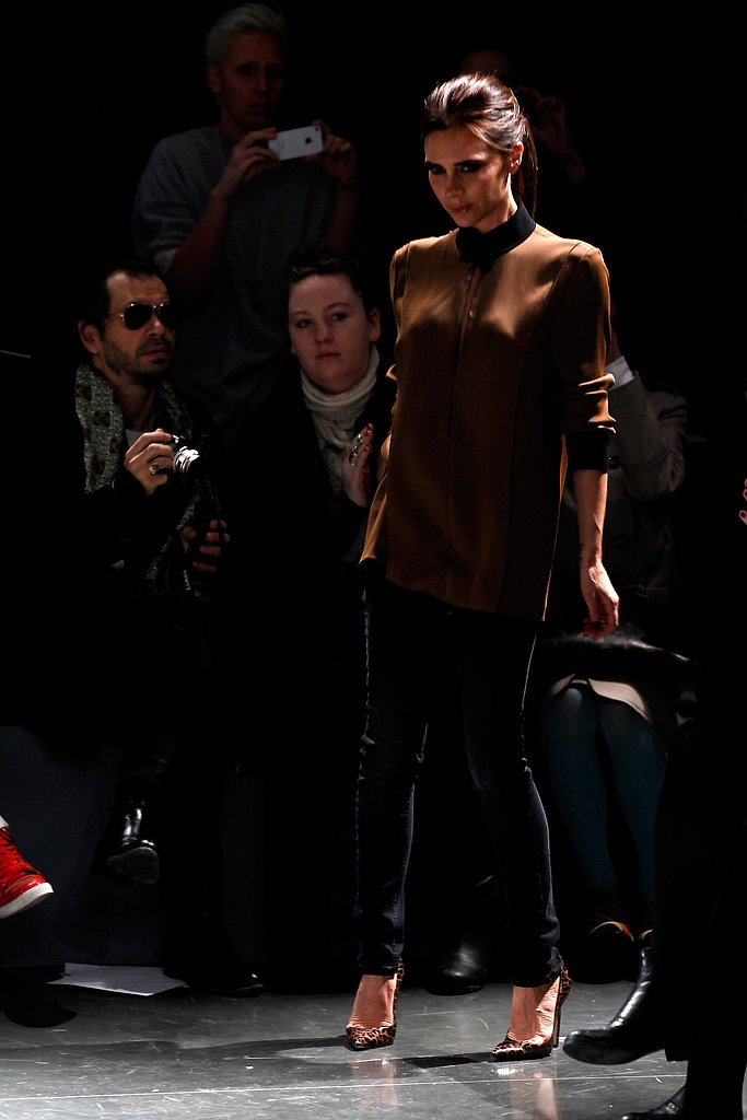 Victoria Beckham took the runway after her Victoria Victoria Beckham show.