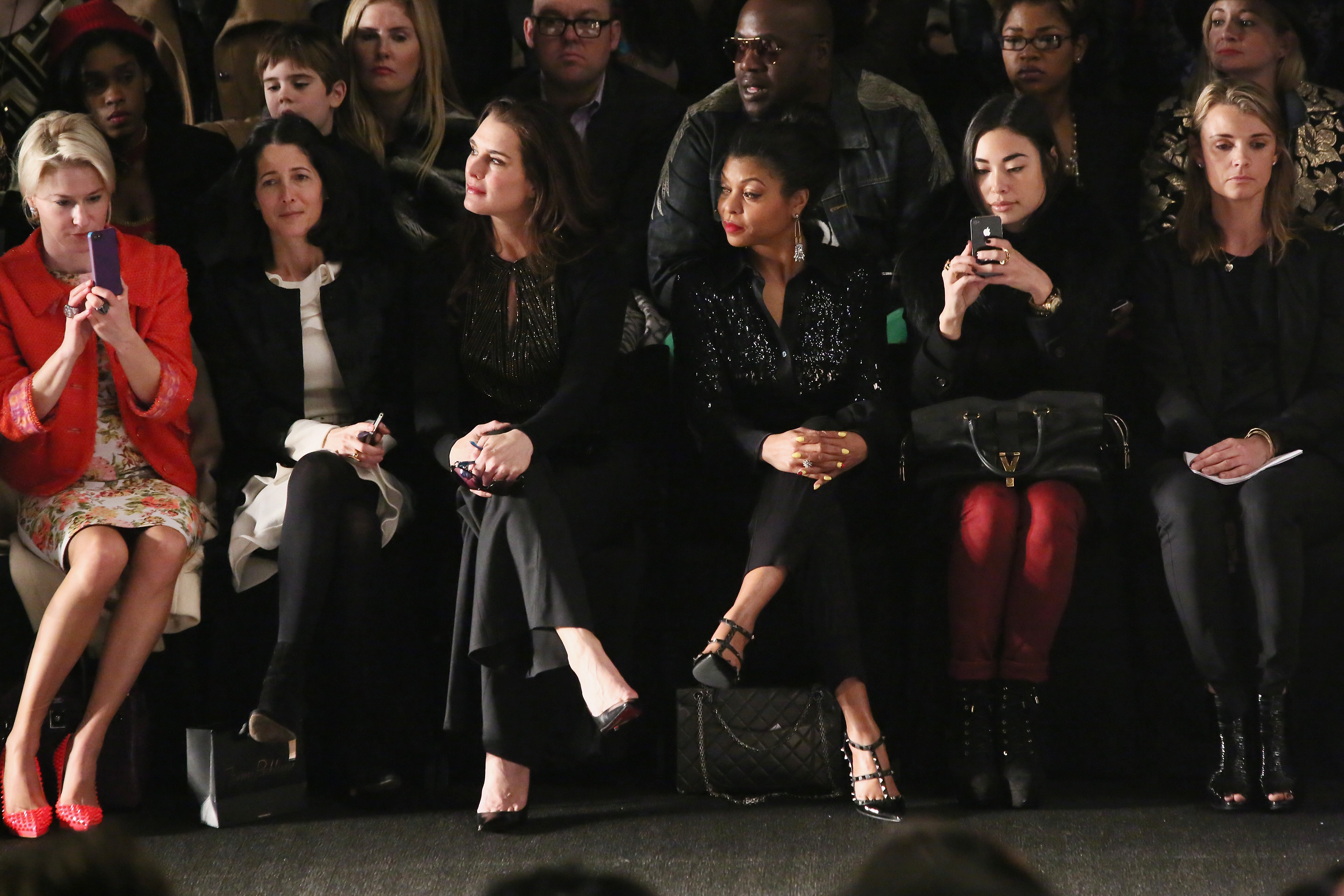 Brooke Shields sat and watched the Naeem Khan show on Tuesday in NYC.