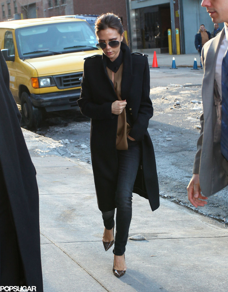 Victoria Beckham stepped out of her car for Fashion Week.