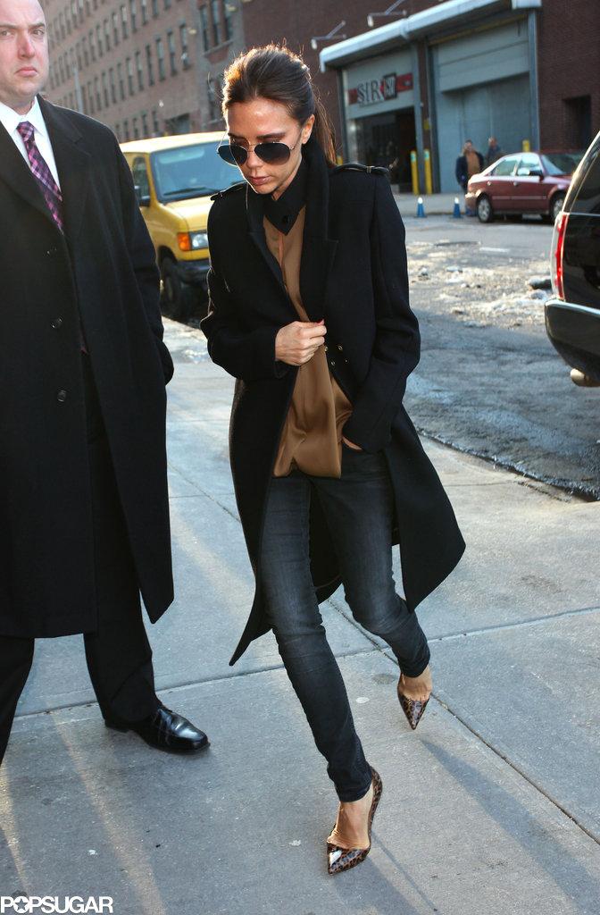 Victoria Beckham continued her NYFW duties.
