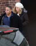 Jennifer Aniston wore a blond wig on set in Stamford, CT.