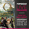 Oz the Great and Powerful Premiere Live-Stream
