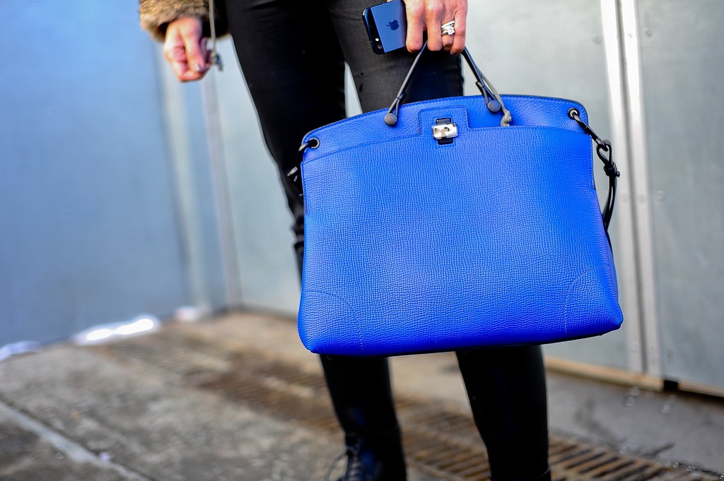 Between the simple silhouette and the bright cobalt hue, this satchel is perfect in every single way.