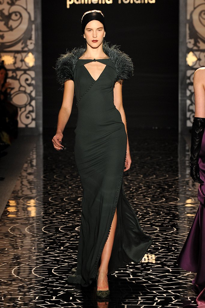 Pamella Roland's Fall 2013 gowns had a huge dose of Old Hollywood glam, making them innately perfect for the Oscars red carpet.