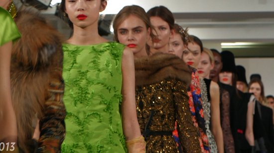 Oscar de la Renta Fall '13: Gorgeous as Ever (With a Galliano Twist)