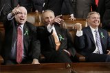 Senators John McCain, Charles Schumer, and Lindsey Graham enjoyed themselves.