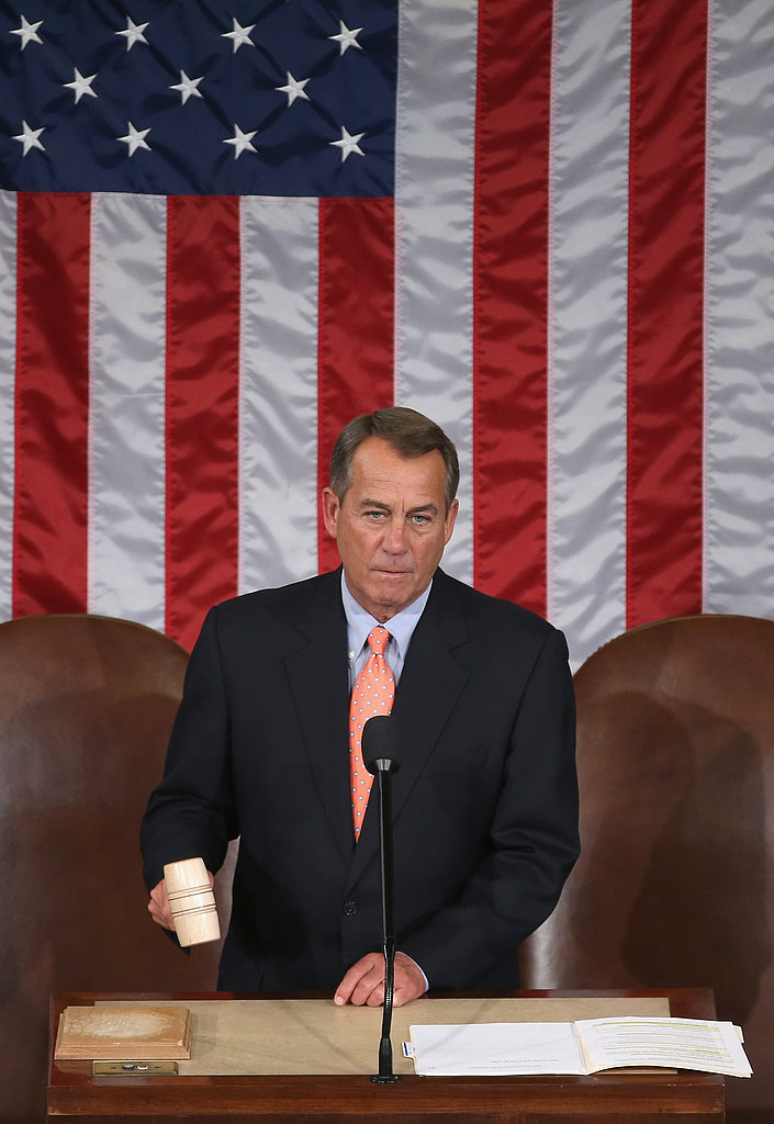 Speaker of the House John Boehner gaveled the House chamber to order.
