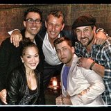 Adam Shankman ran into some *NSYNC members at the opening of Jekyll & Hyde: The Musical in Los Angeles. Source: Instagram user adamshankman