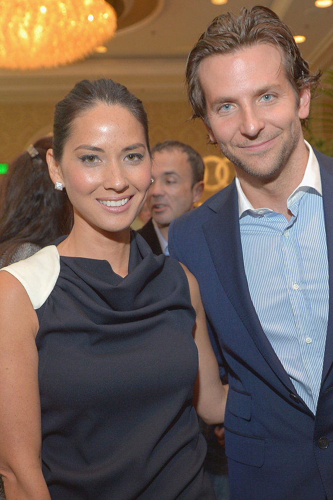 Bradley Cooper and Olivia Munn met up mid-award-season at a BAFTA LA tea party in January.