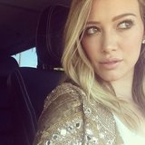 Hilary Duff tweeted a photo in her sparkly blazer. Source: Twitter user Hilary Duff