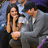 Ashton Kutcher, Mila Kunis, Will Ferrell at Basketball Game